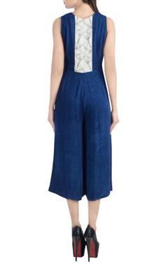 Dark blue midi jumpsuit