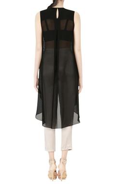 black embellished asymmetric tunic