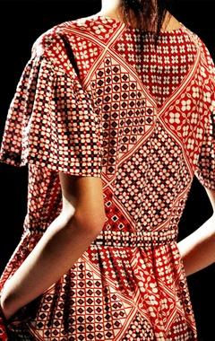 Multi colored printed dress