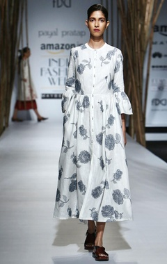 Payal Pratap White dress with blue embroidery