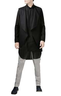 Rohit Gandhi + Rahul Khanna - Men Black sleeveless jacket
