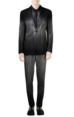 Rohit Gandhi + Rahul Khanna - Men Black jacket with digital print