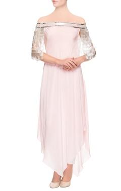 pastel pink asymmetric kurta