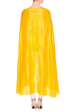 Yellow high low kurta