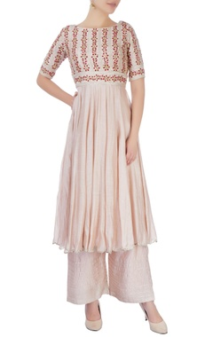 dusky rose pink kurta set