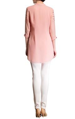 rose pink embellished top