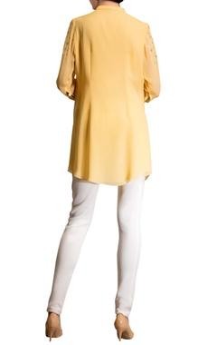 yellow embellished top