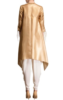 gold asymmetric kurta
