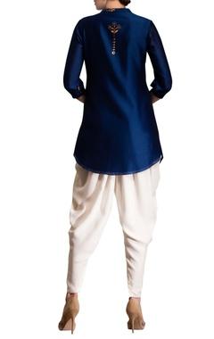 Navy blue printed kurta