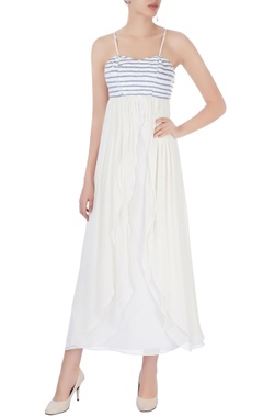 White dress with sequined bodice