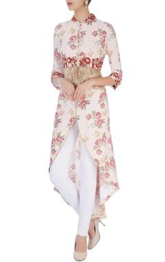 Pink embellished tunic