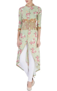 Seema Khan Green embellished tunic
