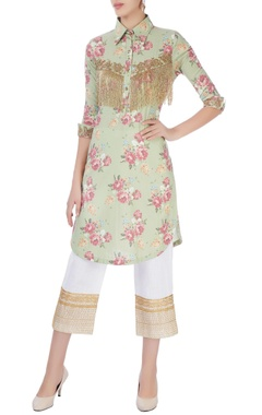 Seema Khan Green embroidered  kurta with pants