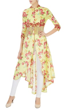 Seema Khan Yellow embellished tunic