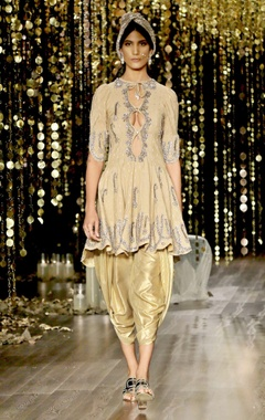 Gold embroidered kurta set