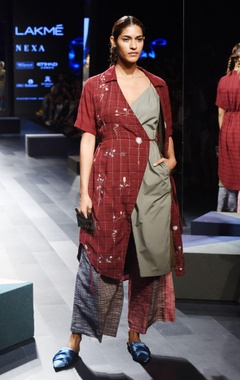 Marsala wrap dress
