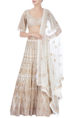 gold embellished lehenga set