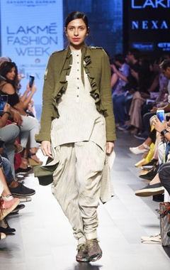 olive green khadi jacket