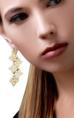 gold plated filigree-work earrings