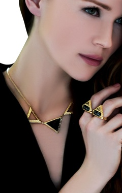 gold plated necklace with triangle pendant