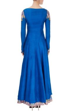 Electric blue kurta with skirt & dupatta