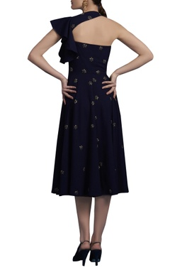 Midnight blue embroidered dress
