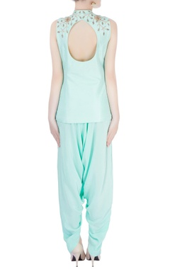 mint blue kurta with dhoti pants