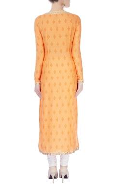 Orange printed long kurta