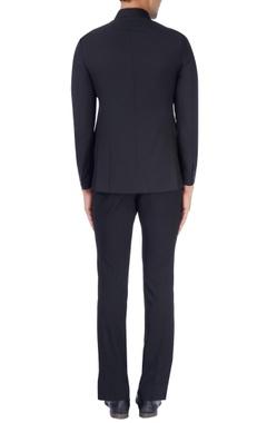 Black bandhgala suit