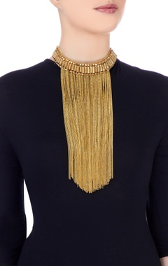 gold plated multiple chain choker