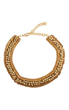 Gold plated coin & bead necklace