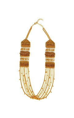 Gold plated long chain necklace