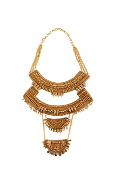 gold plated multiple necklace