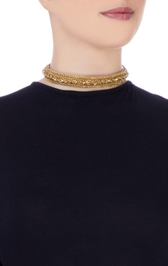 Gold plated choker