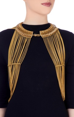 Gold body multiple layer necklace