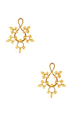 Gold plated earrings with accents