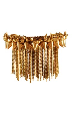 gold plated spiky stud bangle