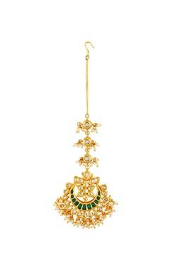Gold plated tiered maangtika
