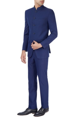 Manish Nagdeo - Men Royal blue jacket & trousers