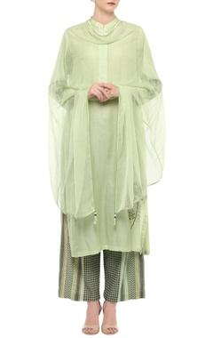 Light green embroidered kurta set