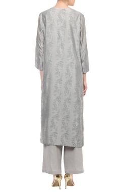 Grey embroidered kurta set