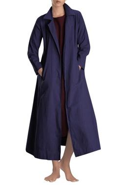 Navy blue long jacket