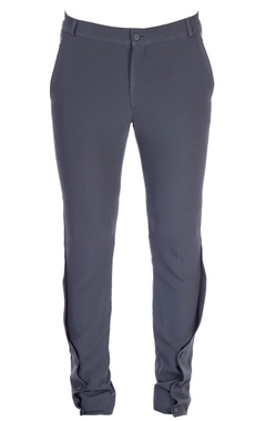 Navy blue overlapping trousers