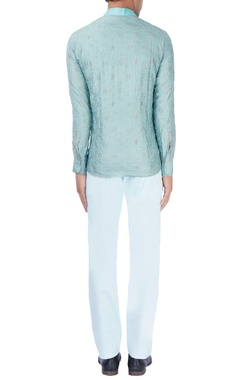 Mint blue kurti with sky blue trousers