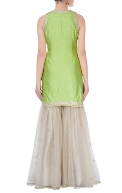 Light green kurta with sharara pants