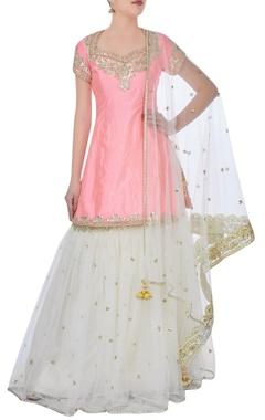 pink sharara lehenga set