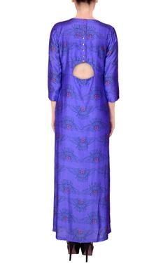 Purple maxi dress in Egyptian print