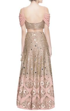 rose pink sequin work lehenga