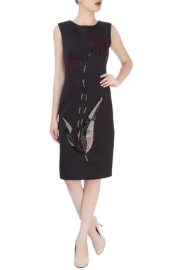 Black dress with hand embroidery