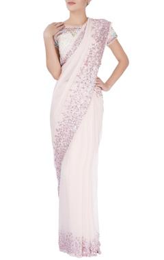 Dilnaz Karbhary Blush pink sequin embellished sari